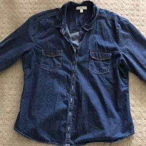 Jackets & Blazers - Barely worn XL light denim tunic-style shirt.